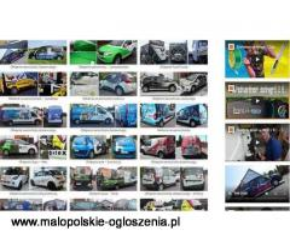 Druk wielkoformatowy,  usługi poligraficzne, kasetony świetlne, litery 3d, oklejanie samochodów