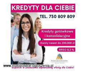 Konsolidacja kredytów z dodatkową gotówką do 200 tys. RRSO 8,3