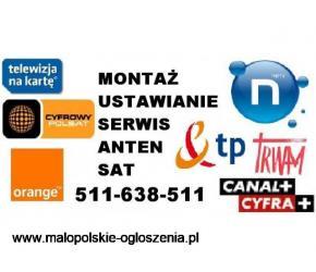 Montaż, serwis, ustawianie anten SAT, DVB-T, naziemne, sieci WI-FI, kamery