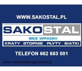 Stopnie schodowe na wymiar, kraty pomostowe, kraty wema Kraków